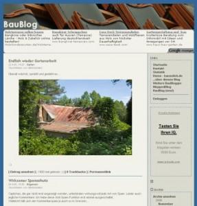 Das 'gute' alte BauBlog