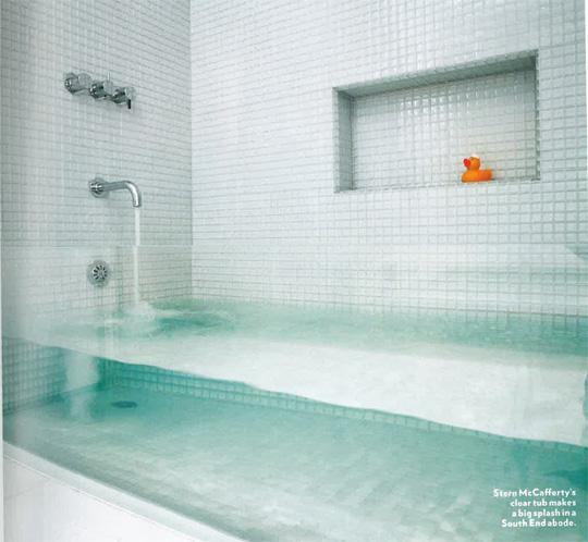 eine badewanne ohne wanne einfach aus glas baublog. Black Bedroom Furniture Sets. Home Design Ideas