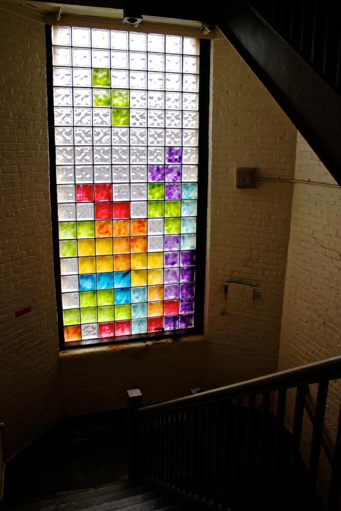 Tetris-Glasbausteine